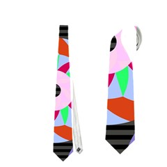 Colorful Retro Circular Pattern Neckties (One Side)