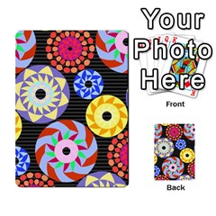 Colorful Retro Circular Pattern Multi Purpose Cards (rectangle)  by DanaeStudio