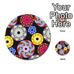 Colorful Retro Circular Pattern Multi Purpose Cards (round)  by DanaeStudio