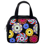 Colorful Retro Circular Pattern Classic Handbags (One Side)