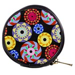 Colorful Retro Circular Pattern Mini Makeup Bags Front