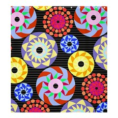 Colorful Retro Circular Pattern Shower Curtain 66  X 72  (large)  by DanaeStudio