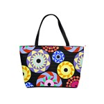 Colorful Retro Circular Pattern Shoulder Handbags