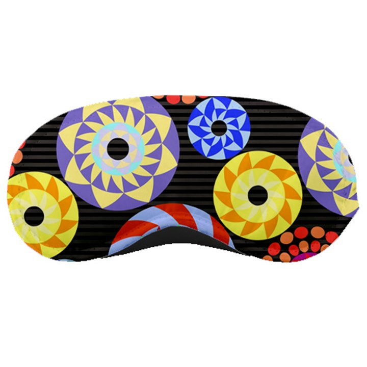 Colorful Retro Circular Pattern Sleeping Masks