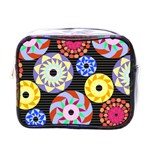 Colorful Retro Circular Pattern Mini Toiletries Bags