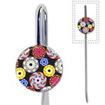 Colorful Retro Circular Pattern Book Mark