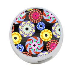 Colorful Retro Circular Pattern 4 Port Usb Hub (one Side) by DanaeStudio