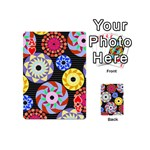 Colorful Retro Circular Pattern Playing Cards 54 (Mini)  Front - HeartA