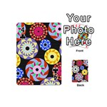 Colorful Retro Circular Pattern Playing Cards 54 (Mini)  Front - Club4