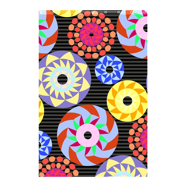 Colorful Retro Circular Pattern Shower Curtain 48  x 72  (Small)