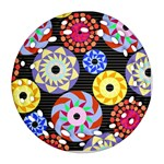 Colorful Retro Circular Pattern Ornament (Round Filigree)