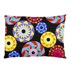 Colorful Retro Circular Pattern Pillow Case (two Sides)