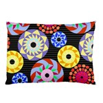 Colorful Retro Circular Pattern Pillow Case (Two Sides) Back