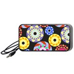 Colorful Retro Circular Pattern Portable Speaker (Black)