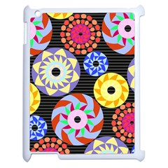 Colorful Retro Circular Pattern Apple Ipad 2 Case (white) by DanaeStudio