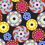 Colorful Retro Circular Pattern YOU ARE INVITED 3D Greeting Card (8x4) Inside