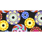 Colorful Retro Circular Pattern ENGAGED 3D Greeting Card (8x4) Back
