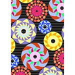 Colorful Retro Circular Pattern THANK YOU 3D Greeting Card (7x5) Inside