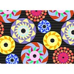 Colorful Retro Circular Pattern TAKE CARE 3D Greeting Card (7x5) Back