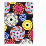 Colorful Retro Circular Pattern Small Garden Flag (Two Sides)
