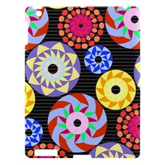 Colorful Retro Circular Pattern Apple Ipad 3/4 Hardshell Case by DanaeStudio