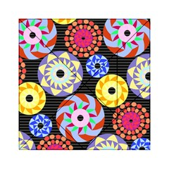 Colorful Retro Circular Pattern Acrylic Tangram Puzzle (6  X 6 ) by DanaeStudio