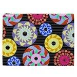 Colorful Retro Circular Pattern Cosmetic Bag (XXL)