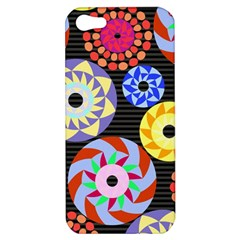 Colorful Retro Circular Pattern Apple Iphone 5 Hardshell Case by DanaeStudio
