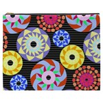 Colorful Retro Circular Pattern Cosmetic Bag (XXXL)  Front