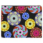 Colorful Retro Circular Pattern Cosmetic Bag (XXXL)  Back