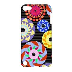 Colorful Retro Circular Pattern Apple Ipod Touch 5 Hardshell Case by DanaeStudio