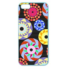 Colorful Retro Circular Pattern Apple Seamless Iphone 5 Case (color) by DanaeStudio