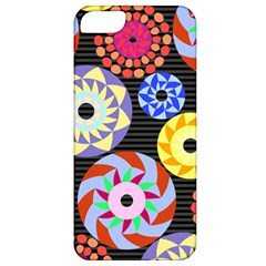 Colorful Retro Circular Pattern Apple Iphone 5 Classic Hardshell Case by DanaeStudio