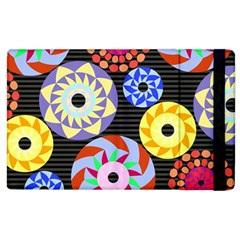 Colorful Retro Circular Pattern Apple Ipad 3/4 Flip Case by DanaeStudio