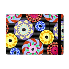 Colorful Retro Circular Pattern Apple Ipad Mini Flip Case by DanaeStudio