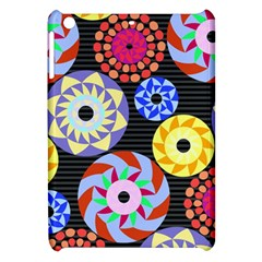 Colorful Retro Circular Pattern Apple Ipad Mini Hardshell Case by DanaeStudio