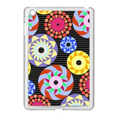 Colorful Retro Circular Pattern Apple Ipad Mini Case (white) by DanaeStudio