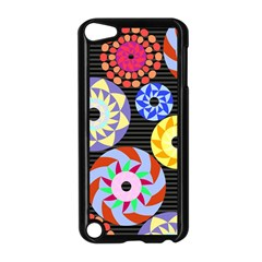 Colorful Retro Circular Pattern Apple Ipod Touch 5 Case (black) by DanaeStudio