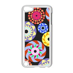 Colorful Retro Circular Pattern Apple Ipod Touch 5 Case (white) by DanaeStudio