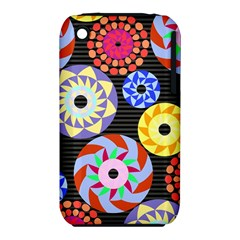 Colorful Retro Circular Pattern Apple Iphone 3g/3gs Hardshell Case (pc+silicone) by DanaeStudio