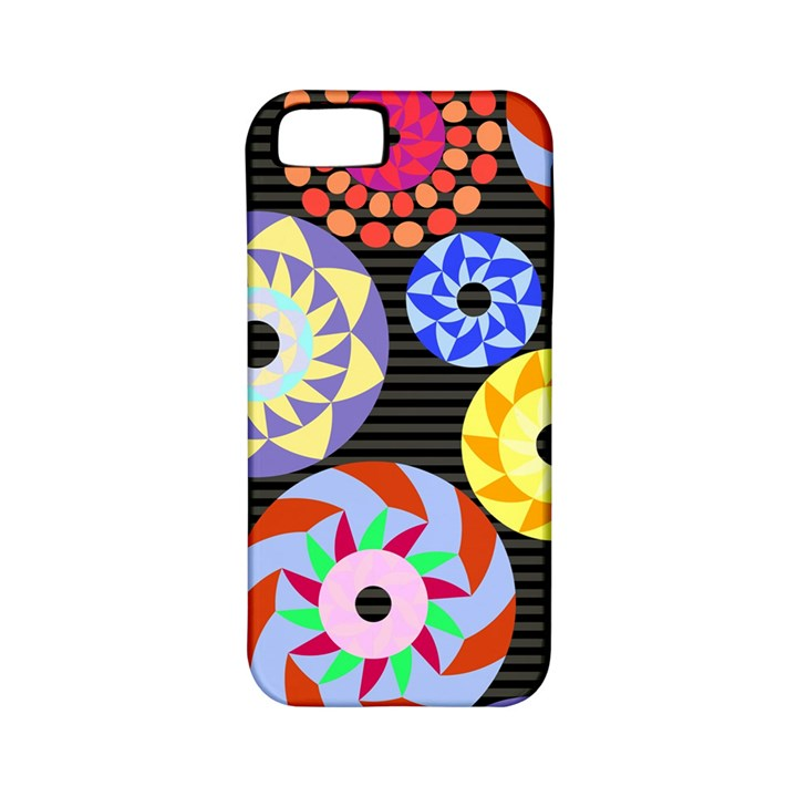 Colorful Retro Circular Pattern Apple iPhone 5 Classic Hardshell Case (PC+Silicone)