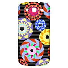 Colorful Retro Circular Pattern Samsung Galaxy S3 S Iii Classic Hardshell Back Case by DanaeStudio