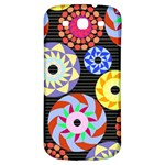 Colorful Retro Circular Pattern Samsung Galaxy S3 S III Classic Hardshell Back Case Front