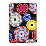 Colorful Retro Circular Pattern Apple iPad Mini Hardshell Case (Compatible with Smart Cover)
