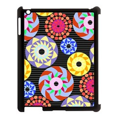 Colorful Retro Circular Pattern Apple Ipad 3/4 Case (black) by DanaeStudio