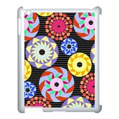 Colorful Retro Circular Pattern Apple Ipad 3/4 Case (white) by DanaeStudio