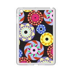 Colorful Retro Circular Pattern Ipad Mini 2 Enamel Coated Cases by DanaeStudio