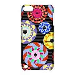 Colorful Retro Circular Pattern Apple Ipod Touch 5 Hardshell Case With Stand by DanaeStudio