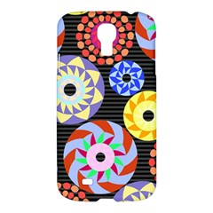 Colorful Retro Circular Pattern Samsung Galaxy S4 I9500/i9505 Hardshell Case by DanaeStudio