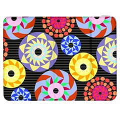 Colorful Retro Circular Pattern Samsung Galaxy Tab 7  P1000 Flip Case by DanaeStudio